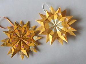 Stern aus Teebeuteln